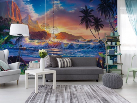 Dream fantasy Tropical Scene wall mural